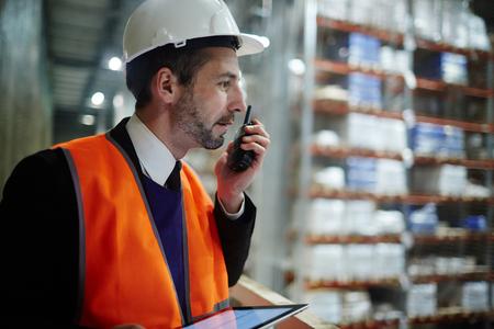 stocktaking: Warehouse Supervisor Managing Work Operations