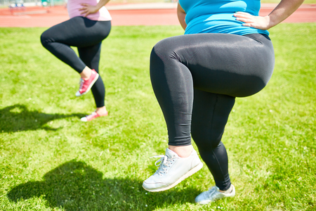 Exercise for legs Stock Photo