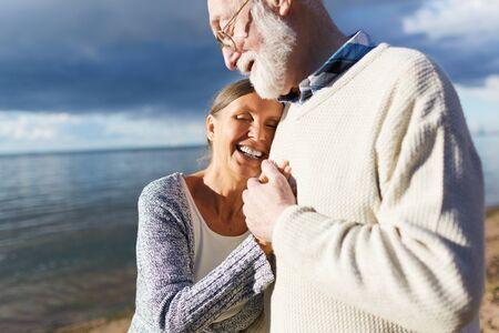 Seaside romance Stock Photo