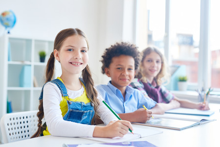 Elementary learners Stock Photo