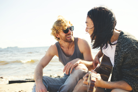 Singing on the beach