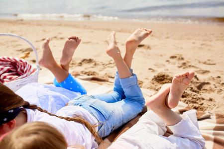 砂でリラックス