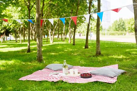 Platz für Picknick Standard-Bild - 84360903