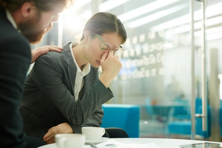 Working troubles Stock Photo