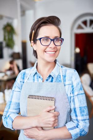 Happy waitress