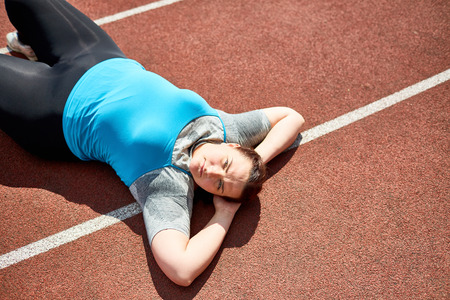 Relax after workout Stock Photo