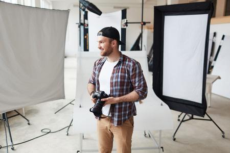 Creative Photographer at Work Stock Photo