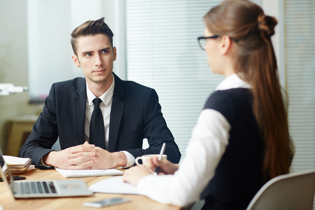 Applicant at interview