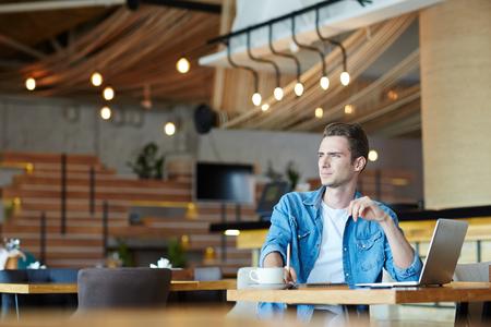 Guy in café