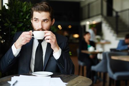 Having coffee Stock Photo