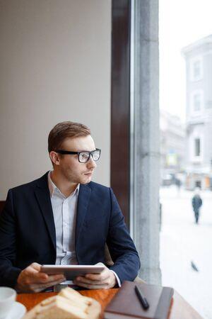 Entrepreneur at break Stock Photo