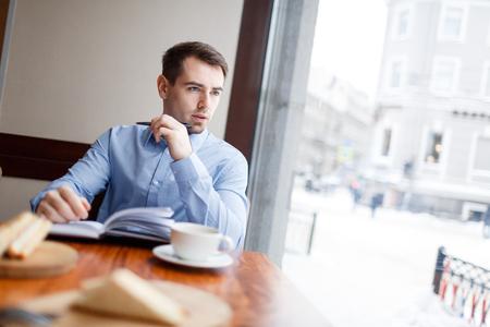 Man contemplating Stock Photo