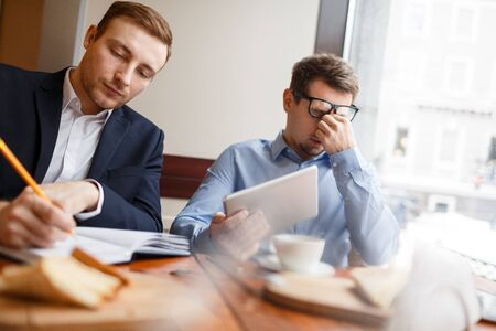Businessmen co-working