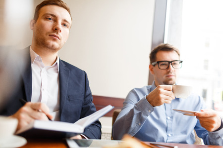 Attending business course Stock Photo