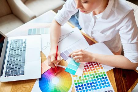 Modieuze kleuren Stockfoto