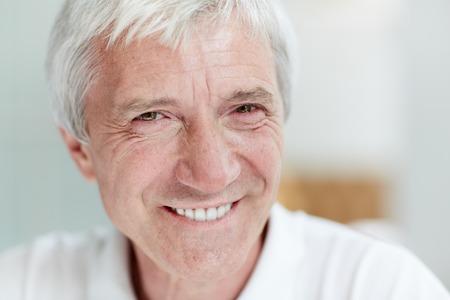 Happy senior man