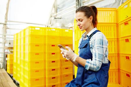 Farmer with smartphone