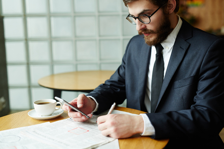 Choosing vacancy Stock Photo
