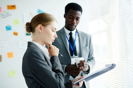Analyzing Results of Expert Study Stock Photo