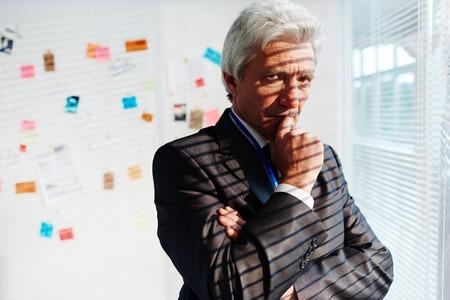 Portrait of Pensive FBI Agent