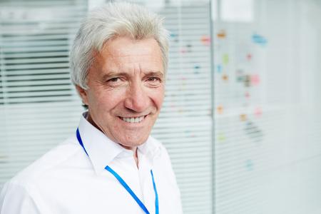 Portrait of Senior Entrepreneur Stock Photo