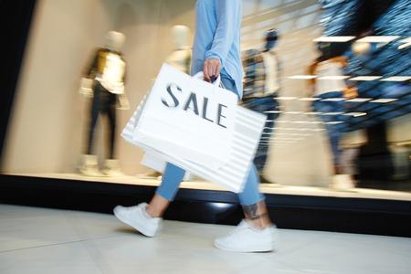 ショッピング モールで購入 写真素材
