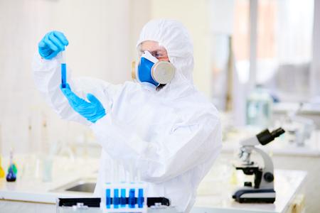 Studying Toxic Liquid at Laboratory Stock Photo