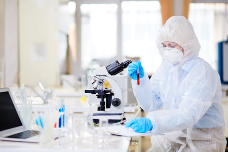 Writing down Results of Experiment Stock Photo - 87606309