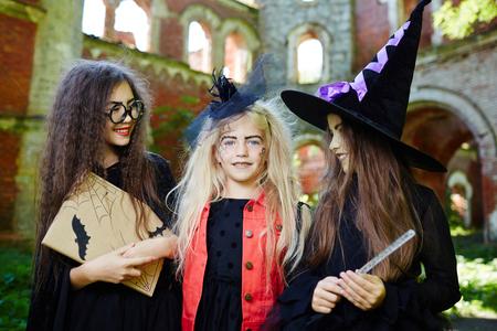 Halloween companions Stock Photo