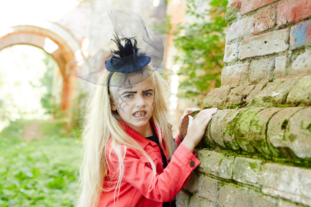Blond witch Stock Photo