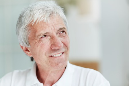 Senior Man with Warm Smile Banco de Imagens