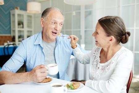 Loving Senior Couple Having Date
