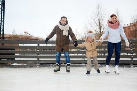 Family of skaters
