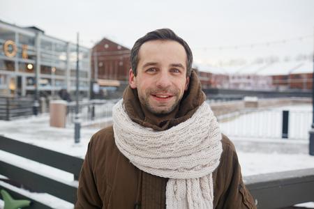 Man on skating rink