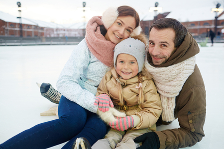 Family at leisure 版權商用圖片