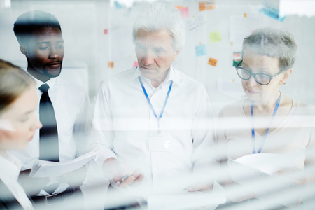 discussion Work in group Stock Photo