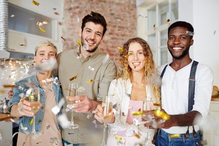 Home celebration Stock Photo