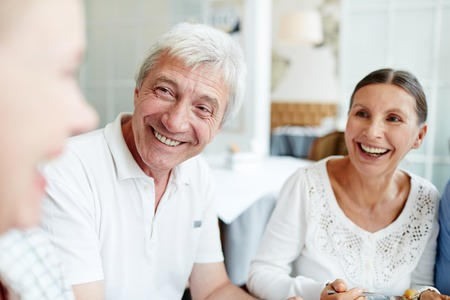 Laughing seniors