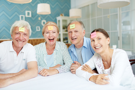 Seniors having fun Stock Photo