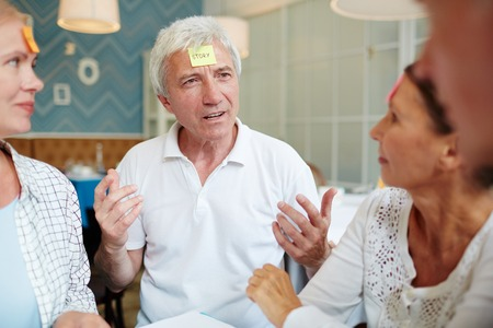 Explaining words 免版税图像