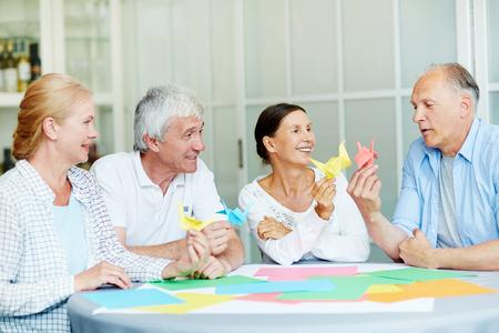 Origami fun Stock Photo
