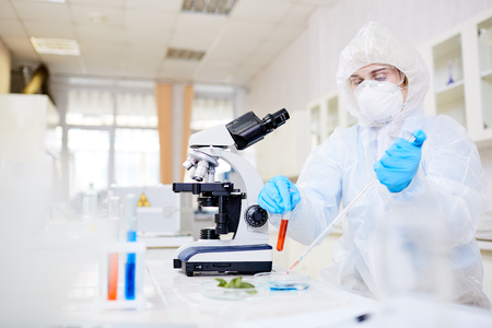 Lab experiment Banque d'images
