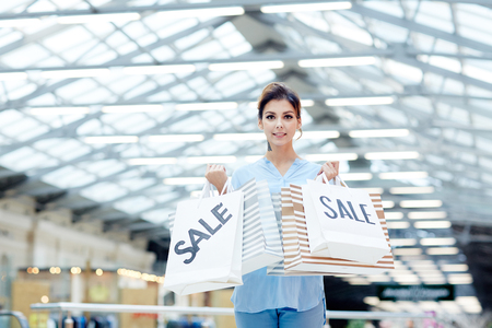 Shopaholic with paperbags