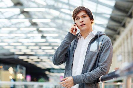 Guy on the phone Reklamní fotografie