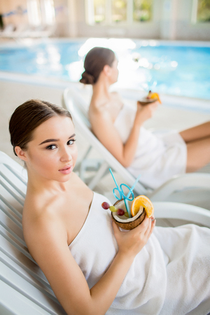 Relaxed woman Stock Photo