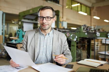 Ingenieur op het werk