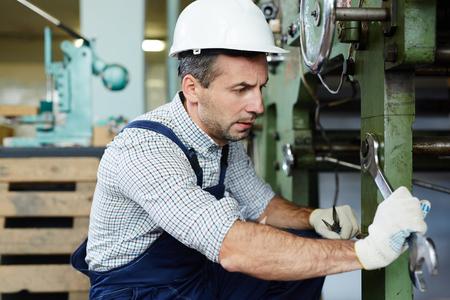 Repairing machine Stock Photo
