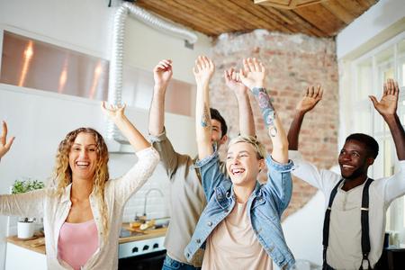 Happy dance Stock Photo