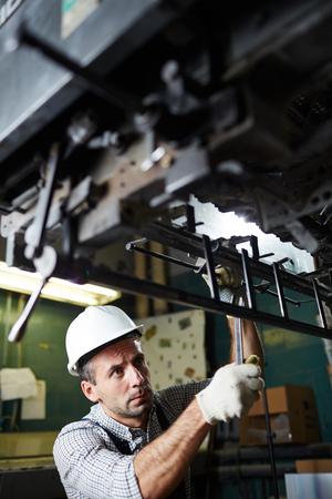 工場で働いてください。 写真素材