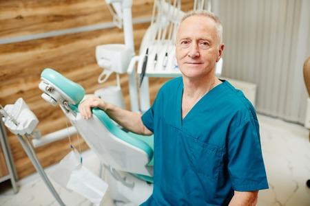 先輩歯科医 写真素材